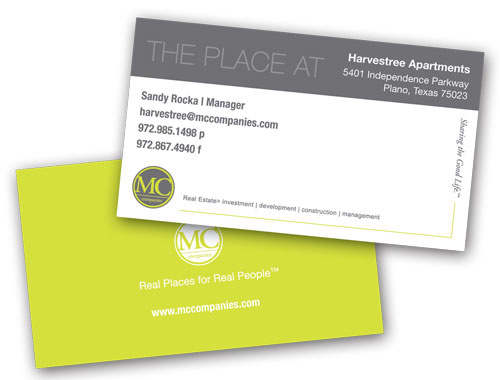 MC Companies business cards