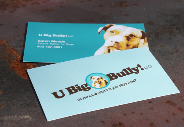 U Big Bully business card