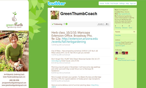 Green Thumb Gardening Coach on Twitter