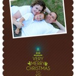 7×5 Scallop – Merry Christmas – FRONT