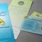 Door hanger and visit card