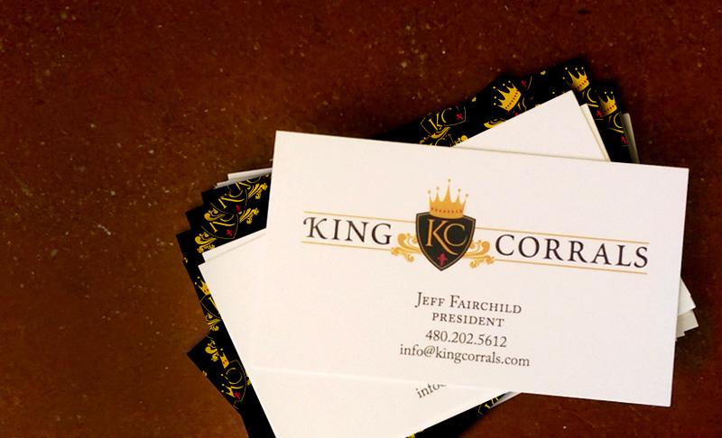 Project spotlight king corrals logo and business card colourmoves