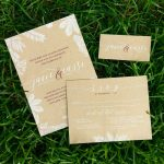 Rutic, elegant wedding invitations